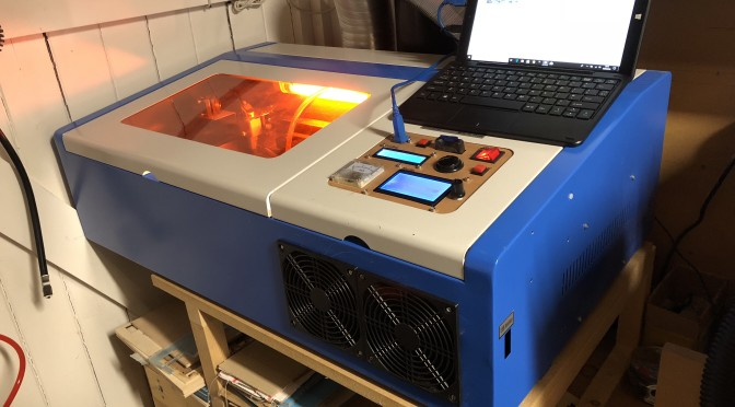Laser Cutter K40 with cooling and work area light